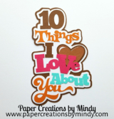 10 Things I Love Title Pink