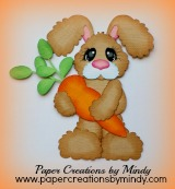 Bunny with Carrot Standing