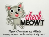 Check Meowt Cat Title Pink