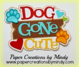 Dog Gone Cute Pawprint Title