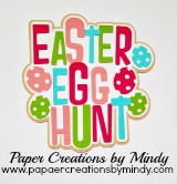Easter Egg Hunt Colors Title