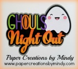 Ghouls Night Out Title SVG