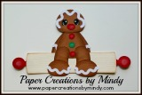 Gingerbread man on Rolling Pin