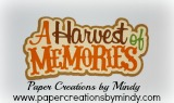 A Harvest of Memories Title