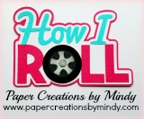How I Roll Title Pink