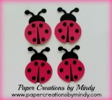 Ladybugs Embellishment - Dark Pink