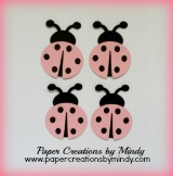 Ladybugs Embellishment - Light Pink