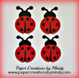 Ladybugs Embellishment - Red