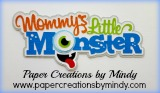 Mommys Little Monster Title Blue
