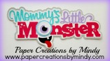 Mommys Little Monster Title Pink