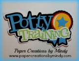 Potty Training Title Blue