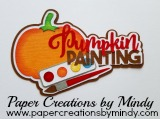 Pumpkin Painting Title SVG