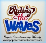 Riding the Waves Pink Title
