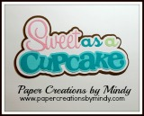 Sweet As A Cupcake Title